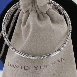 David Yurman 3mm Stackable Cable Bangle Bracelet